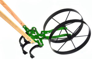 Double Wheel Hoe Push Cultivator